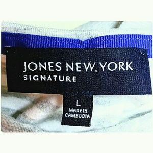 Jones New York Tops - Jones New York Striped Crew Neck Top Size Large